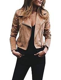 donna rivetto Giacca a maniche lunghe con cerniera-Cappotto di personalità  della moda femminile- ff2e45b7e59