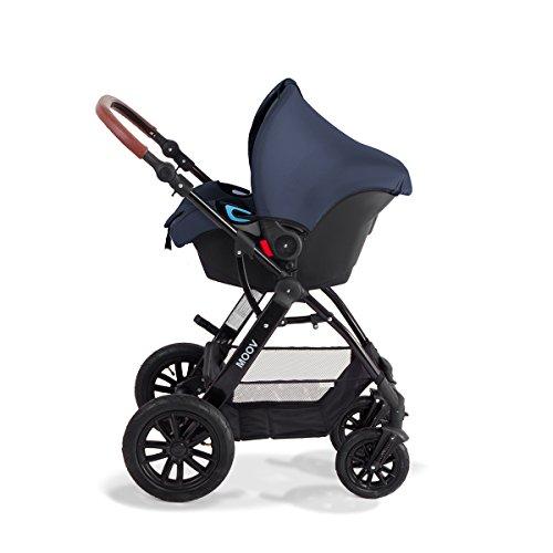Kinderkraft Moov Multi Kinderwagen Kombikinderwagen 3in1 mit Buggy Babyschale Dunkelblau