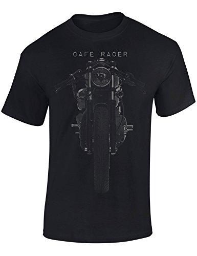 Motorrad T-Shirt: Motorrad Cafe Racer - T-Shirt für alle Biker und Motorradfahrer Herren Damen - Geschenk für Motorradfahrer - Biker T-Shirt - Motorrad Geschenke - Petrolhead Industries (L) Cafe Racer