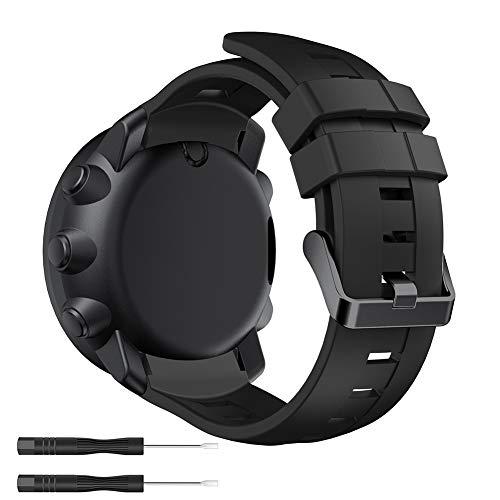 YaYuu Suunto Ambit 3 Vertical Silikon Watch Armband Sportarmband Uhr Band Strap Erstatzband Uhrenarmband für Suunto Vertical Samrtwatch, Armbandlänge 140mm-230mm