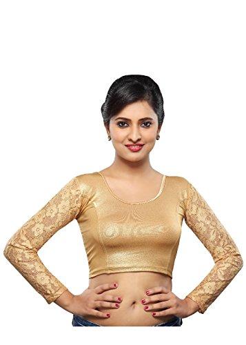 Vamas Shimmer Stretchable Full Sleeves Saree Blouse (Vdb_A-19)