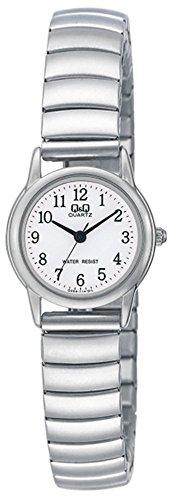 hr qq589j214y-Armband in Stahl Silber-Ziffernblatt Weiß-Bewegung von Citizen ()