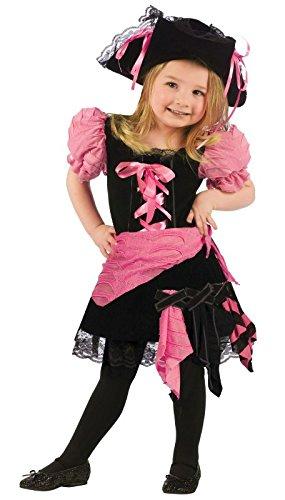 Kleinkind Punk Kostüm - Fun World Damen Kleinkinder Pink Punk Pirat Kostüm