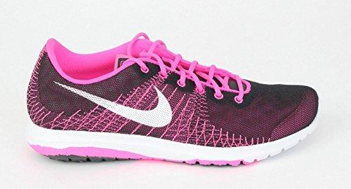 Nike Flex Fury (GS), Scarpe da corsa donna Black/White/Pink Pow/Vivid Pink