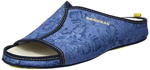 Nordikas 3195, Pantofole Aperte sul Retro Uomo Blu