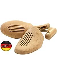 Schuhspanner aus Holz - Hochwertige Unisex Schraubspanner verstellbar durch Gewindemechanik - Hergestellt in Deutschland!