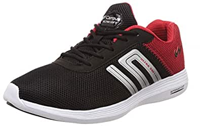 Campus Men's Duster-2 Blk/Red Running Shoes-6 UK/India (40 EU) (CG-198)