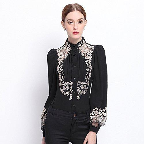 Lady 's Fashion Lounge Mantel, langärmliges Hemd Mantel,schwarz,l (Shirt L/s Lounge Womens)
