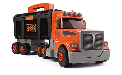 Smoby - 360175 - Black & Decker - Camion Bricolo - 2 en 1 - Boîte à Outils - 60 Accessoires Inclus