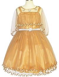 Mädchen Kleid Blume Perle Gürtel Festzug Hochzeit Gr. 92-158