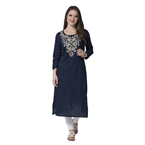 Attire4ever blue Embroidered exclusive casual kurta