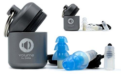Ohrstöpsel | Gehörschutz-stöpsel (noise) mit Aufbewahrungsbehälter und Kordel | 26 dB | wiederverwendbar | Ideal zum schlafen, fliegen, arbeiten und Musik hören | Klein bis mittelgroße Ohren