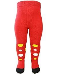 """DAS ORIGINAL BOMIO® Baby Strumpfhose aus hautfreundlichem Material """"Rot gepunktet"""", Größen von """"3-18 Monate"""""""