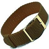 ZeitPunkt 520-18-g - Correa para reloj, nailon, color marrón