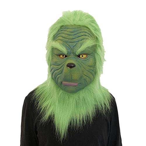 Cosplay Grinch, 12shage Maske Schmelzen Gesicht Latex Kostüm Sammlerstück Requisite Unheimlich Maske (Scary Baby Doll Kostüme)