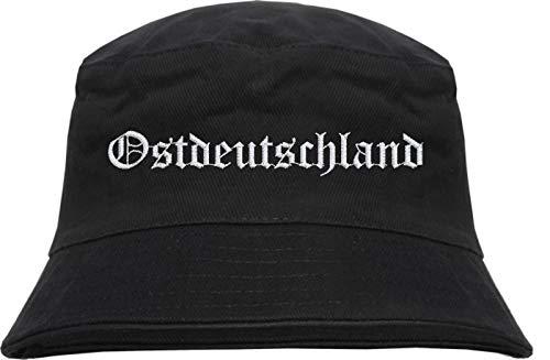 HB_Druck Ostdeutschland Fischerhut - Bestickt - Bucket Hat Schwarz S/M