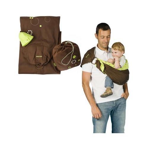 babymoov porte b b echarpe avec anneau chocolat vert. Black Bedroom Furniture Sets. Home Design Ideas
