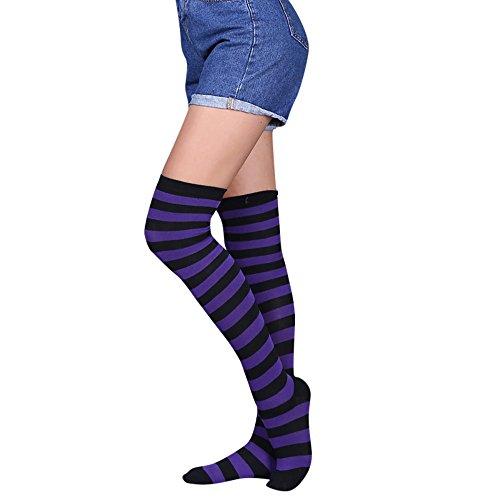 QinMM Calcetines hasta rodilla mujer medias largas