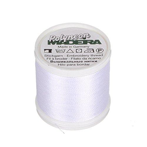 MADEIRA 9845-1801 Stickgarn aus Polyester, 2-lagig, 40 W, Weiß -
