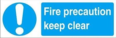 Gebotszeichen–Fire Vorsorge Keep Clear–Hart-PVC 300x 100mm