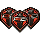 Hardcore Team Red Dragon Extra Thick Standard Dart Flights - 5 Sets Per Pack (15 Dart Flights In Total) & Red Dragon Checkout Card