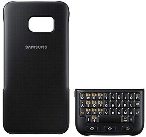Samsung Original Keyboard Cover Hülle EJ-CG935 für Galaxy S7 edge - Schwarz