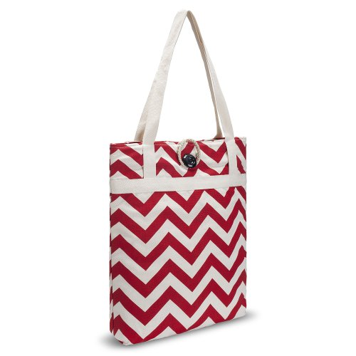 kuzy-red-chevron-zig-zag-travel-tote-bag-cotton-handmade-16-inch-for-macbook-and-laptop-book-bags-re