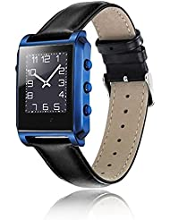 Joyeer Smart Watch GPS Tracking Call Recordatorio Mensaje Push Pedometer Wristband Bluetooth Música Cámara Despertador Impermeable Anti-perdido Smartband para IOS Android , blue