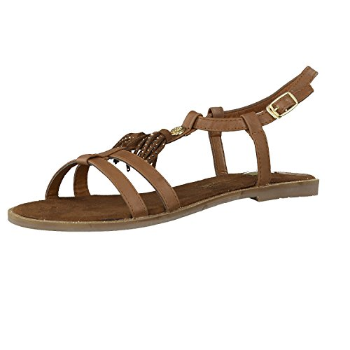 Tom Tailor Damen Sandale camel 40