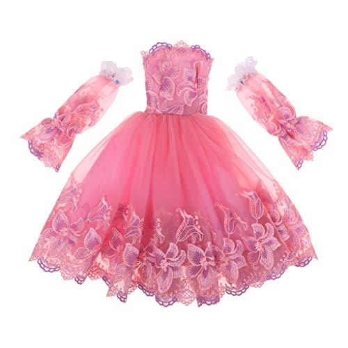 Baoblaze Schönes Trägerlose Puppenkleid Hochzeitskleid Kleid Kleidung für 1/3 Bjd Nacht Lolita...