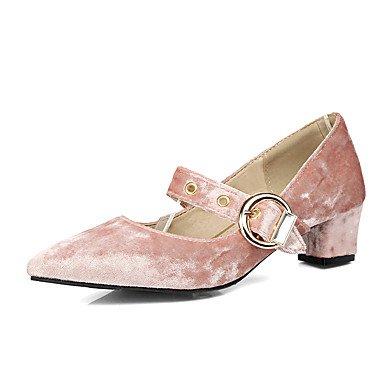 LYNXL Tacco grosso Donna Casual Tacchi Primavera Estate Altri similpelle abito Altri Verde Rosa Viola Almond Pink