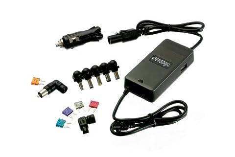 Vivanco Universal 11V-15V Notebooknetzteil für Auto mit 9 Adapterstecker für u.a. HP, Lenovo und Dell, Leistung 90 Watt (100 Watt