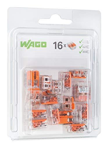 WAGO 221-412/996-016 Compact-Verbindungsklemme, Transparent (16-er Pack) -