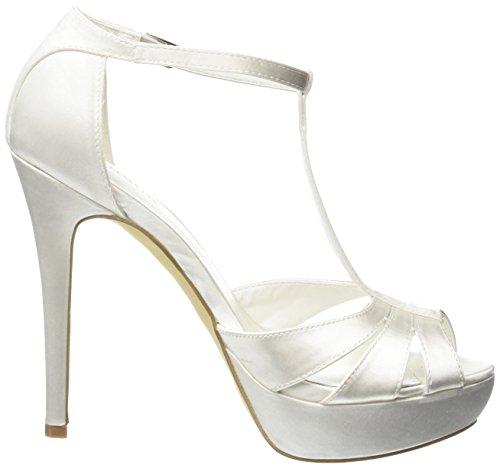 Menbur Wedding Mika, Fermeture en T femme Blanc - Elfenbein (Ivory 04)
