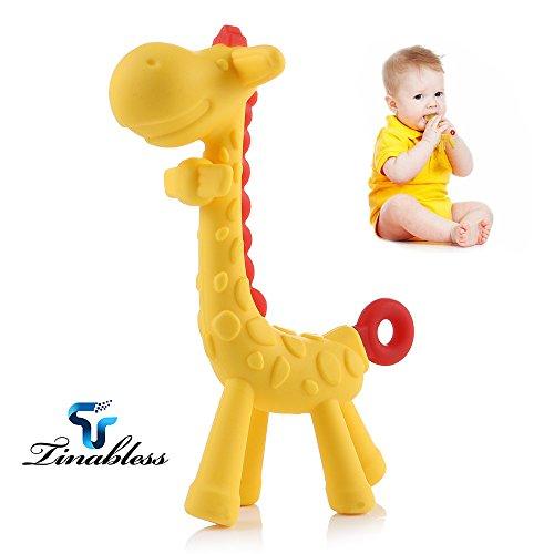 Baby Beißring Spielzeug Zahnen Schnuller Kauen Ringe für Babys, Kleinkinder und Kleinkinder - weiches Silikon, BPA-frei, natürliche organische