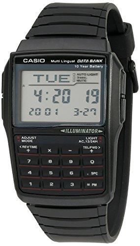 Casio Herren DBC32-1A Datenbank Digitaluhr schwarz