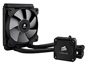 Corsair Hydro H60 All-in-One Liquid CPU Cooler Sistema di Raffreddamento a Liquido, Radiatore da 120 mm, Ventola Singola SP120 PWM, Nero