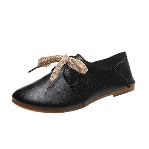 Transer® Damen Flach Mokassins Sommer/Herbst Casual Schuh Sandelholz Slipper(Bitte eine Nummer größer bestellen. Vielen Dank!) Schwarz