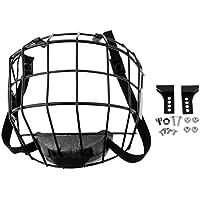 perfk 1 Pieza de Máscara Protectora de Cara para Hockey Sobre Hielo, Accesorio de Protección de Deportistas - Negro