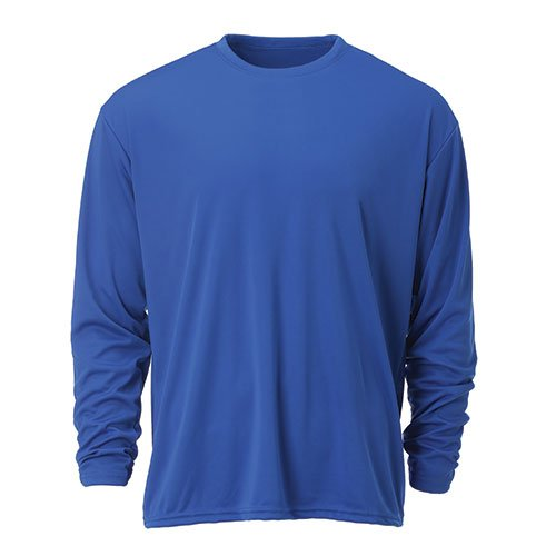 Ouray Sportswear Performance Long Sleeve Tee, Royal, Medium