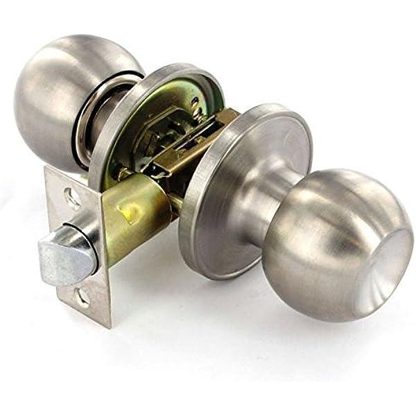 Satin Stainless Steel Door Knob Set Passage