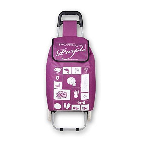 Einkaufsroller SHOP-N-GO Einkaufstrolley faltbar Einkaufstasche Hackenporsche 37 Liter verschiedene Farben (Lila)