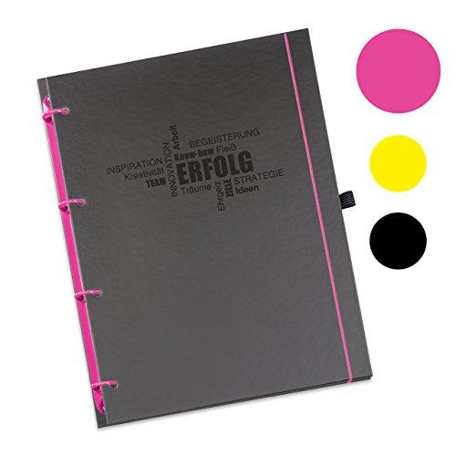 Schaar-Design flexiNotes® ORGANIZER A4 nachfüllbar, Buchkalender 2018, 1 Woche auf 2 Seiten als Planer Typ: A4, ,,Business', Farbe:Pink, Papier:Organizer Basic - Wochenkalender - Ring L (Pink-organizer Planer)