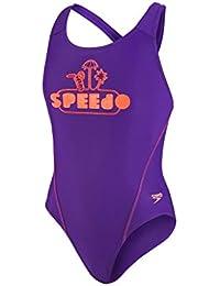 Speedo Mädchen Logo Placement Splashback Badeanzug