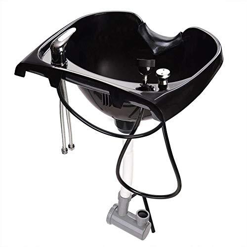 ATSALON Capelli Lavelli per Shampoo Lavatesta Portatile Ciotola Ciotola PP Plastica Salone Barbiere Lavaggio Lavello Montaggio Parete Bacino con