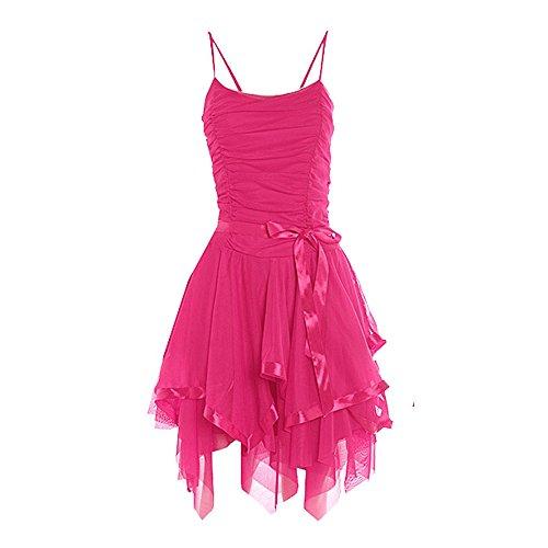 Damen Riemchen Prom -Partei-Kleid EUR Größe 36-42 Kirsche