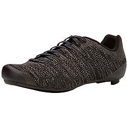 Giro Empire E70 Knit Road, Zapatos de Ciclismo de Carretera para Hombre, (Black/Charcoal Heather 000), 41 EU