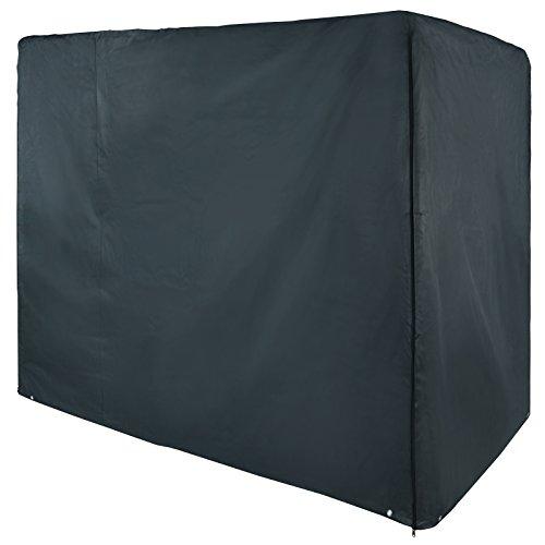 BB Sport Abdeckhaube für 3 Sitzer Hollywoodschaukel Maße 180 x 160 x 115 cm wasserdicht mit Reißverschlüssen, verstärktem Rand und 8 Metallösen, Farbe:Granitgrau (PES)