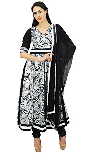 Atasi Frauen Printed Anarkali Cotton Salwaar Kameez Anzug Indian Kurti mit Dupatta Ethnische Lässige Kleidung - Größen erhältlich