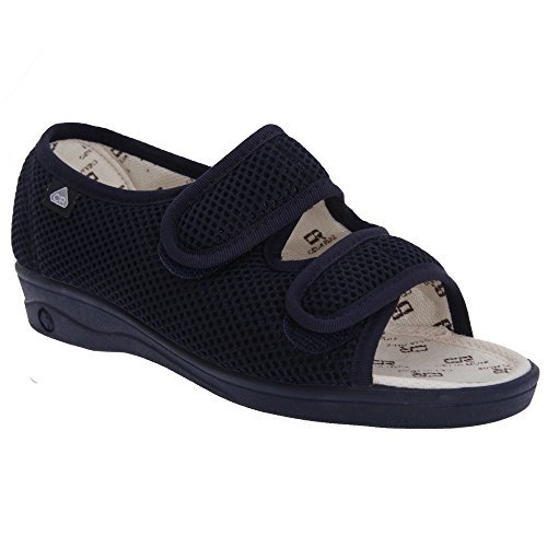 celia-ruiz-scarpe-larghe-con-chiusura-a-strappo-donna-42-eur-blu-navy